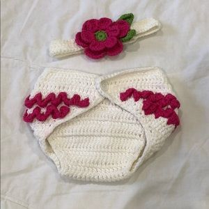 Adorable Diaper Cover w/ Headband 🌺
